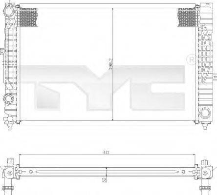 TYC 7020010 Радиатор, охлаждение двигателя