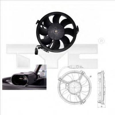 TYC 8020003 Вентилятор, охлаждение двигателя