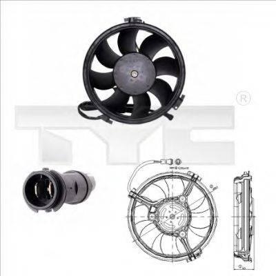 TYC 8020005 Вентилятор, охлаждение двигателя