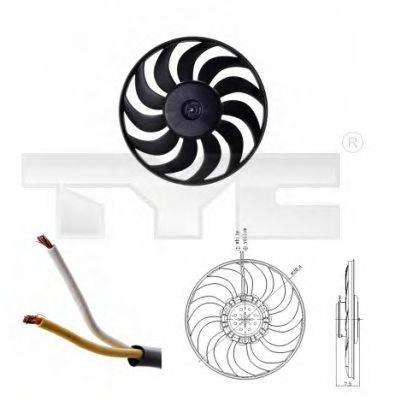 TYC 8020052 Вентилятор, охлаждение двигателя