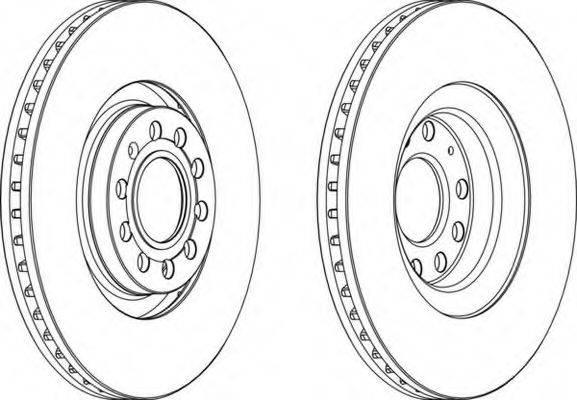 FERODO DDF1705C1 Тормозной диск