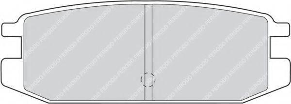 FERODO FDB1010 Комплект тормозных колодок, дисковый тормоз
