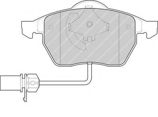 FERODO FDB1323 Комплект тормозных колодок, дисковый тормоз