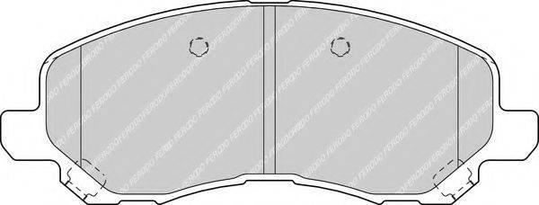 FERODO FDB1621 Комплект тормозных колодок, дисковый тормоз