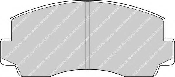 FERODO FDB170 Комплект тормозных колодок, дисковый тормоз