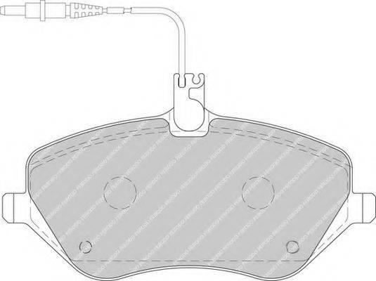 FERODO FDB1726 Комплект тормозных колодок, дисковый тормоз