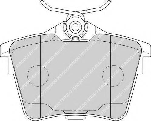 FERODO FDB1727 Комплект тормозных колодок, дисковый тормоз