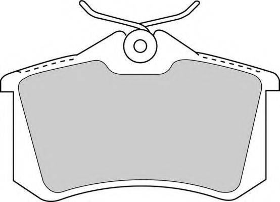 FERODO FDB1788 Комплект тормозных колодок, дисковый тормоз