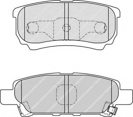 FERODO FDB1839 Комплект тормозных колодок, дисковый тормоз