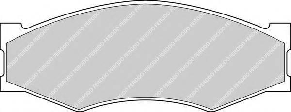 FERODO FDB340 Комплект тормозных колодок, дисковый тормоз