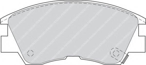FERODO FDB556 Комплект тормозных колодок, дисковый тормоз
