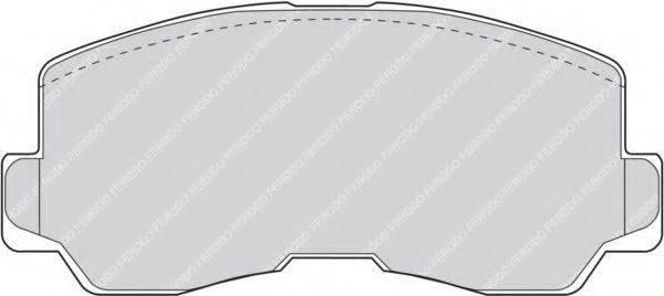FERODO FDB634 Комплект тормозных колодок, дисковый тормоз