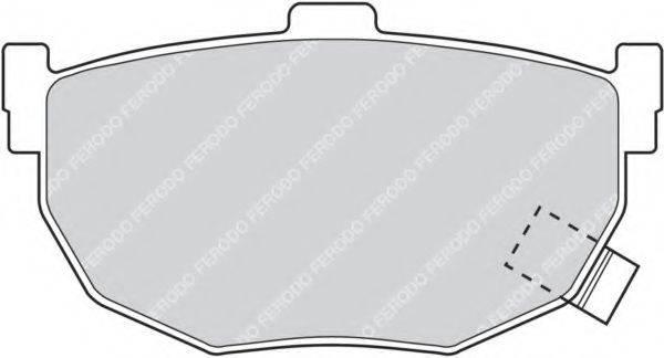 FERODO FDB638 Комплект тормозных колодок, дисковый тормоз