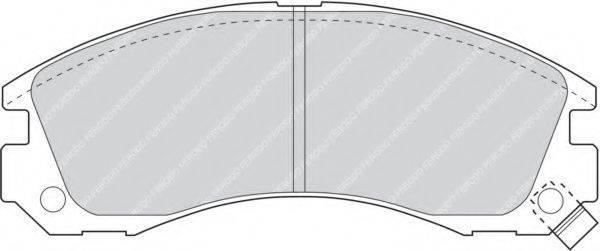 FERODO FDB765 Комплект тормозных колодок, дисковый тормоз