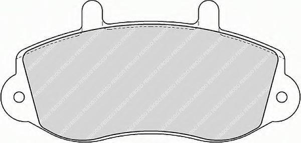 FERODO FVR1292 Комплект тормозных колодок, дисковый тормоз