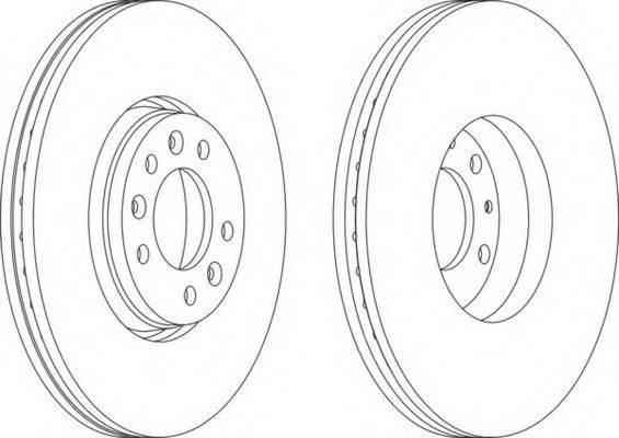 FERODO DDF1615 Тормозной диск