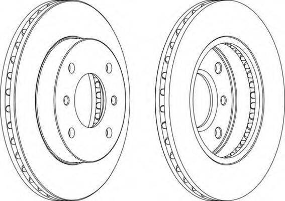 FERODO DDF234 Тормозной диск
