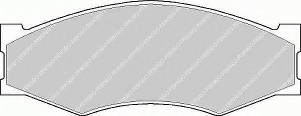FERODO FSL340 Комплект тормозных колодок, дисковый тормоз