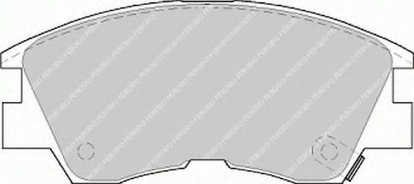 FERODO FSL556 Комплект тормозных колодок, дисковый тормоз