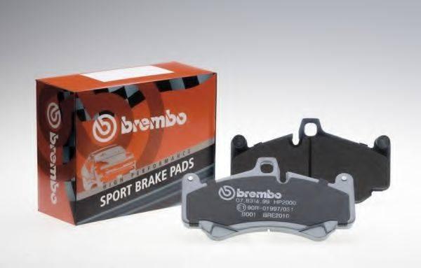 BREMBO 07B31512 Комплект высокоэффективных тормозных колодок