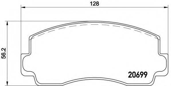 BREMBO P54002 Комплект тормозных колодок, дисковый тормоз