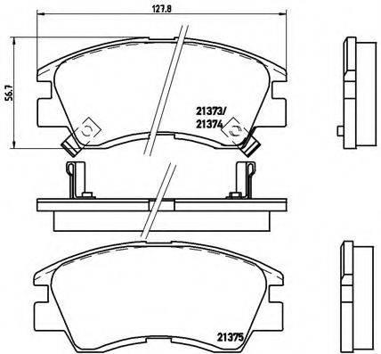 BREMBO P54008 Комплект тормозных колодок, дисковый тормоз