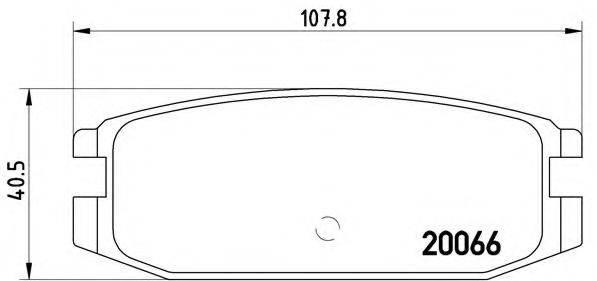 BREMBO P54011 Комплект тормозных колодок, дисковый тормоз