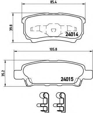 BREMBO P54034 Комплект тормозных колодок, дисковый тормоз