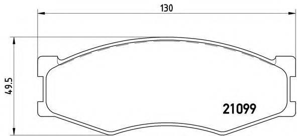BREMBO P56014 Комплект тормозных колодок, дисковый тормоз