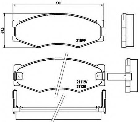 BREMBO P56056 Комплект тормозных колодок, дисковый тормоз