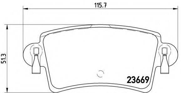 BREMBO P59040 Комплект тормозных колодок, дисковый тормоз