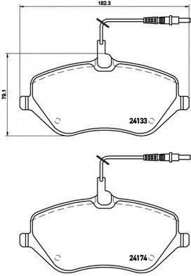 BREMBO P61078 Комплект тормозных колодок, дисковый тормоз