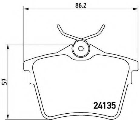 BREMBO P61079 Комплект тормозных колодок, дисковый тормоз