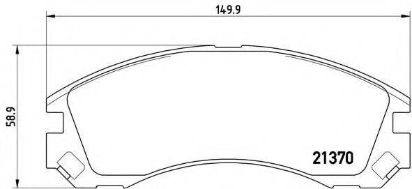 BREMBO P61089 Комплект тормозных колодок, дисковый тормоз