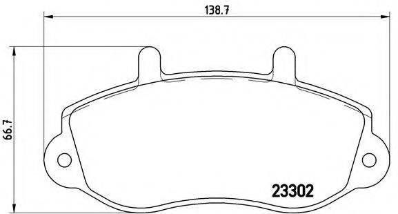 BREMBO P68025 Комплект тормозных колодок, дисковый тормоз