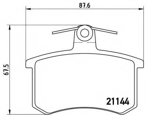 BREMBO P85013 Комплект тормозных колодок, дисковый тормоз