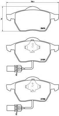 BREMBO P85037 Комплект тормозных колодок, дисковый тормоз