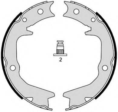 BREMBO S54519 Комплект тормозных колодок, стояночная тормозная система