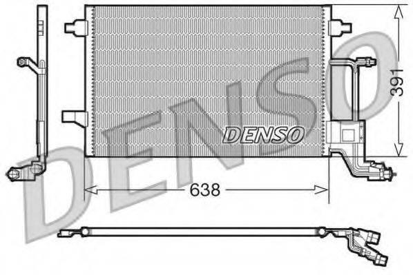 DENSO DCN02014 Конденсатор, кондиционер