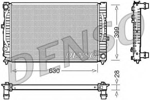 DENSO DRM02032 Радиатор, охлаждение двигателя