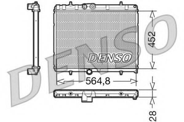 DENSO DRM21057 Радиатор, охлаждение двигателя