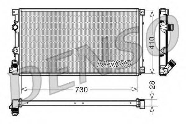 DENSO DRM23090 Радиатор, охлаждение двигателя