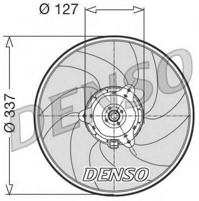 DENSO DER21004 Вентилятор, охлаждение двигателя