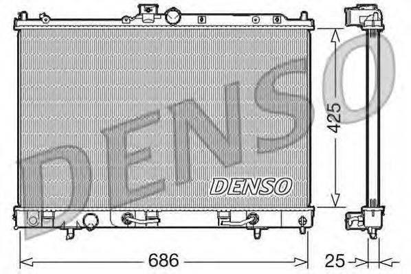 DENSO DRM45027 Радиатор, охлаждение двигателя