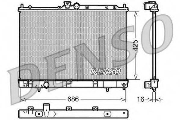 DENSO DRM45031 Радиатор, охлаждение двигателя