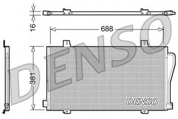 DENSO DCN23017 Конденсатор, кондиционер