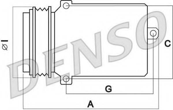 DENSO DCP02005 Компрессор, кондиционер