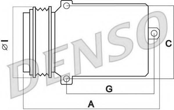 DENSO DCP02013 Компрессор, кондиционер