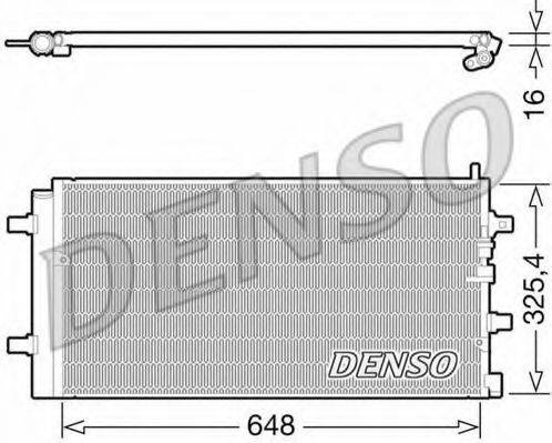 DENSO DCN02002 Конденсатор, кондиционер