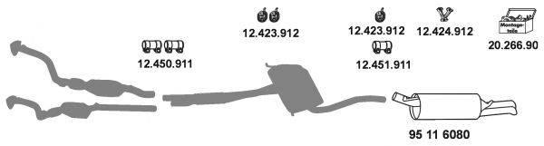 EBERSPACHER 12327 Система выпуска ОГ